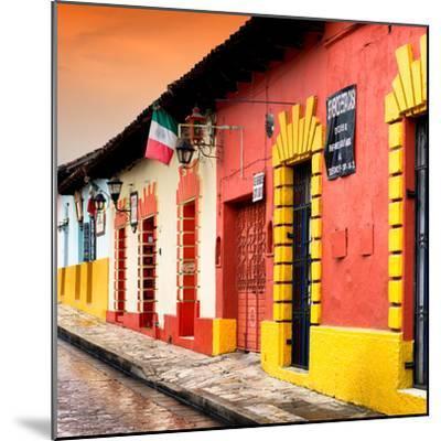 ¡Viva Mexico! Square Collection - Street Scene in San Cristobal de Las Casas II-Philippe Hugonnard-Mounted Photographic Print