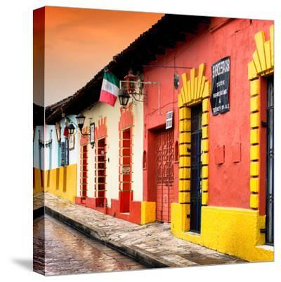 ¡Viva Mexico! Square Collection - Street Scene in San Cristobal de Las Casas II-Philippe Hugonnard-Stretched Canvas Print