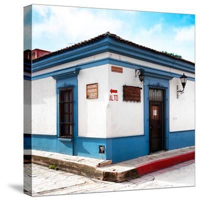 ¡Viva Mexico! Square Collection - Street Scene in San Cristobal de Las Casas III-Philippe Hugonnard-Stretched Canvas Print