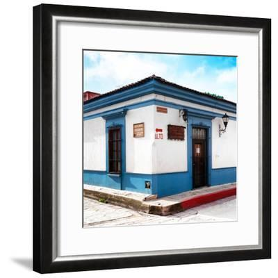 ¡Viva Mexico! Square Collection - Street Scene in San Cristobal de Las Casas III-Philippe Hugonnard-Framed Photographic Print