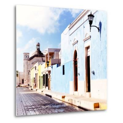 ¡Viva Mexico! Square Collection - Beautiful Colorful Street in Campeche V-Philippe Hugonnard-Metal Print