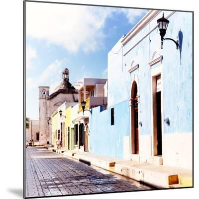 ¡Viva Mexico! Square Collection - Beautiful Colorful Street in Campeche V-Philippe Hugonnard-Mounted Photographic Print