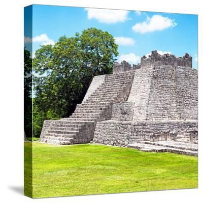 ¡Viva Mexico! Square Collection - Mayan Ruins - Edzna II-Philippe Hugonnard-Stretched Canvas Print