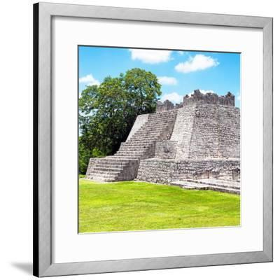 ¡Viva Mexico! Square Collection - Mayan Ruins - Edzna II-Philippe Hugonnard-Framed Photographic Print