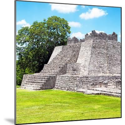 ¡Viva Mexico! Square Collection - Mayan Ruins - Edzna II-Philippe Hugonnard-Mounted Photographic Print
