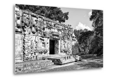 ¡Viva Mexico! B&W Collection - Hochob Mayan Pyramids III - Campeche-Philippe Hugonnard-Metal Print