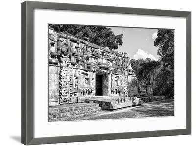 ¡Viva Mexico! B&W Collection - Hochob Mayan Pyramids III - Campeche-Philippe Hugonnard-Framed Photographic Print