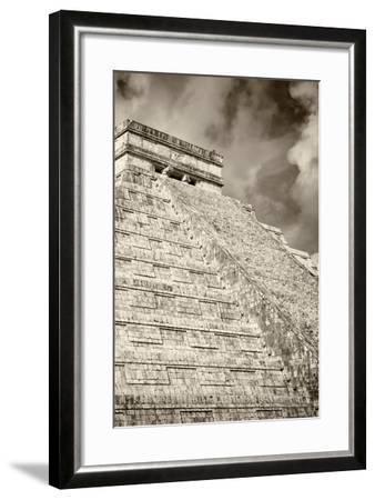 ?Viva Mexico! B&W Collection - Chichen Itza Pyramid XV-Philippe Hugonnard-Framed Photographic Print