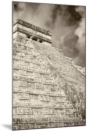 ?Viva Mexico! B&W Collection - Chichen Itza Pyramid XV-Philippe Hugonnard-Mounted Photographic Print