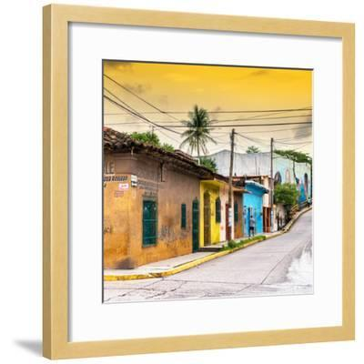 ¡Viva Mexico! Square Collection - Colorful Mexican Street at Sunset II-Philippe Hugonnard-Framed Photographic Print