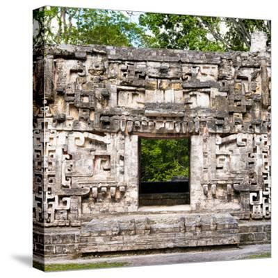¡Viva Mexico! Square Collection - Hochob Mayan Pyramids of Campeche-Philippe Hugonnard-Stretched Canvas Print