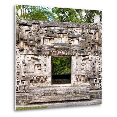 ¡Viva Mexico! Square Collection - Hochob Mayan Pyramids of Campeche-Philippe Hugonnard-Metal Print