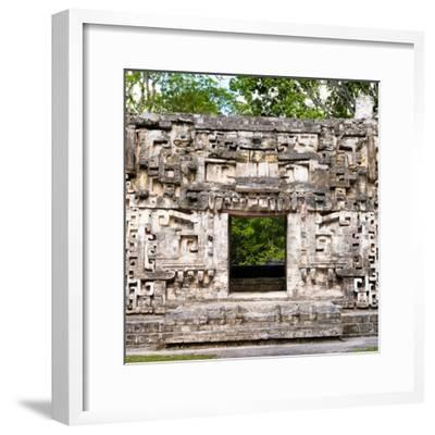 ¡Viva Mexico! Square Collection - Hochob Mayan Pyramids of Campeche-Philippe Hugonnard-Framed Photographic Print