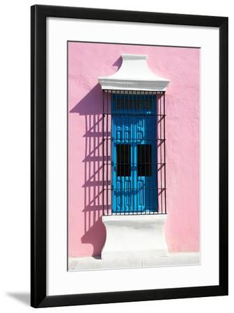?Viva Mexico! Collection - Blue Window and Pink Wall in Campeche-Philippe Hugonnard-Framed Photographic Print
