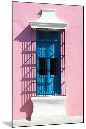 ?Viva Mexico! Collection - Blue Window and Pink Wall in Campeche-Philippe Hugonnard-Mounted Photographic Print