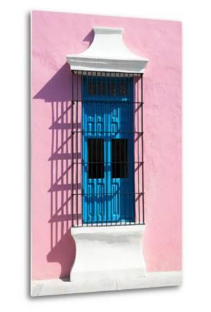 ?Viva Mexico! Collection - Blue Window and Pink Wall in Campeche-Philippe Hugonnard-Metal Print
