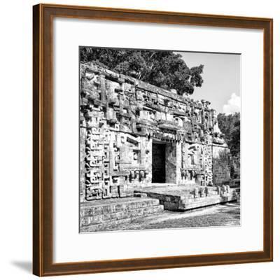 ¡Viva Mexico! Square Collection - Hochob Mayan Pyramids of Campeche V-Philippe Hugonnard-Framed Photographic Print