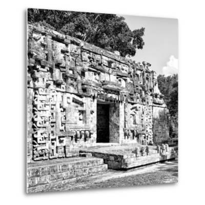 ¡Viva Mexico! Square Collection - Hochob Mayan Pyramids of Campeche V-Philippe Hugonnard-Metal Print