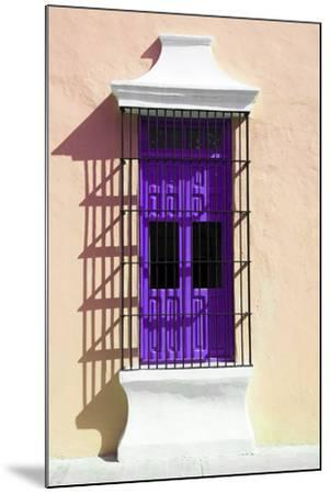 ¡Viva Mexico! Collection - Purple Window and Apricot Wall in Campeche-Philippe Hugonnard-Mounted Photographic Print