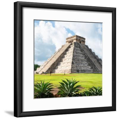 ¡Viva Mexico! Square Collection - El Castillo Pyramid - Chichen Itza III-Philippe Hugonnard-Framed Photographic Print