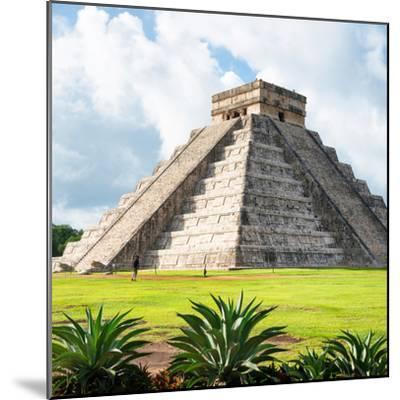 ¡Viva Mexico! Square Collection - El Castillo Pyramid - Chichen Itza III-Philippe Hugonnard-Mounted Photographic Print