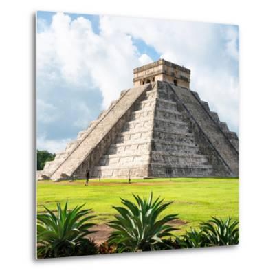 ¡Viva Mexico! Square Collection - El Castillo Pyramid - Chichen Itza III-Philippe Hugonnard-Metal Print