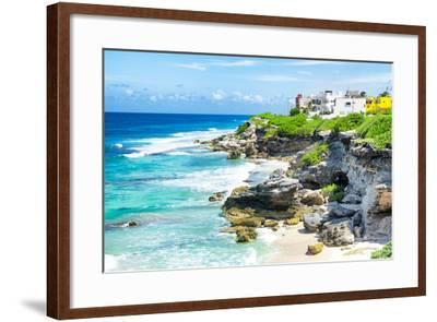 ¡Viva Mexico! Collection - Isla Mujeres Coastline-Philippe Hugonnard-Framed Photographic Print
