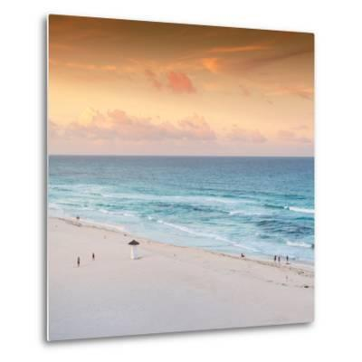 ¡Viva Mexico! Square Collection - Ocean View at Sunset in Cancun II-Philippe Hugonnard-Metal Print