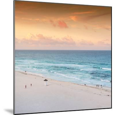 ¡Viva Mexico! Square Collection - Ocean View at Sunset in Cancun II-Philippe Hugonnard-Mounted Photographic Print