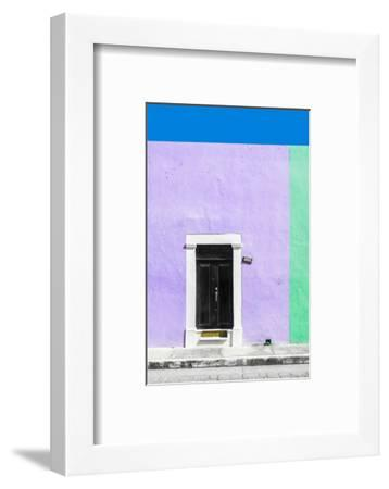 ¡Viva Mexico! Collection - 124 Street Campeche - Mauve & Green Wall-Philippe Hugonnard-Framed Photographic Print