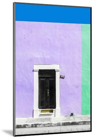 ¡Viva Mexico! Collection - 124 Street Campeche - Mauve & Green Wall-Philippe Hugonnard-Mounted Photographic Print