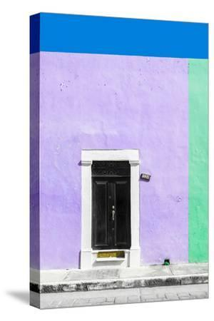 ¡Viva Mexico! Collection - 124 Street Campeche - Mauve & Green Wall-Philippe Hugonnard-Stretched Canvas Print