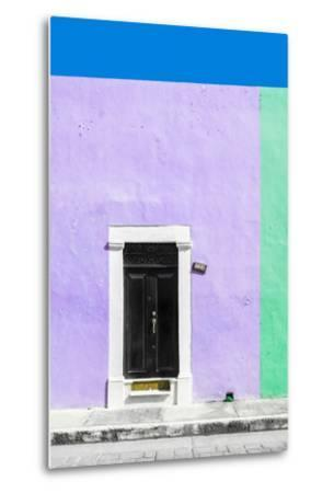 ¡Viva Mexico! Collection - 124 Street Campeche - Mauve & Green Wall-Philippe Hugonnard-Metal Print