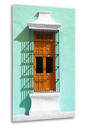 ?Viva Mexico! Collection - Orange Window and Coral Green Wall in Campeche-Philippe Hugonnard-Metal Print