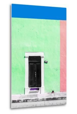 ?Viva Mexico! Collection - 124 Street Campeche - Green & Hot Pink Wall-Philippe Hugonnard-Metal Print