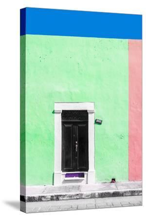 ?Viva Mexico! Collection - 124 Street Campeche - Green & Hot Pink Wall-Philippe Hugonnard-Stretched Canvas Print