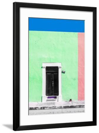 ?Viva Mexico! Collection - 124 Street Campeche - Green & Hot Pink Wall-Philippe Hugonnard-Framed Photographic Print