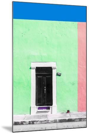 ?Viva Mexico! Collection - 124 Street Campeche - Green & Hot Pink Wall-Philippe Hugonnard-Mounted Photographic Print
