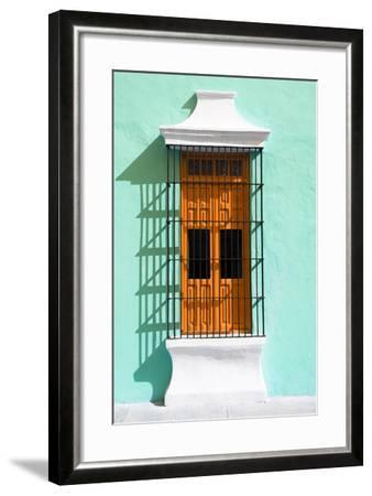 ?Viva Mexico! Collection - Orange Window and Coral Green Wall in Campeche-Philippe Hugonnard-Framed Photographic Print