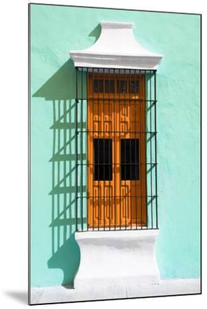 ?Viva Mexico! Collection - Orange Window and Coral Green Wall in Campeche-Philippe Hugonnard-Mounted Photographic Print