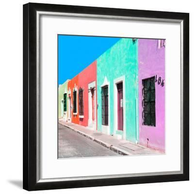 ¡Viva Mexico! Square Collection - Coloful Street VII-Philippe Hugonnard-Framed Photographic Print