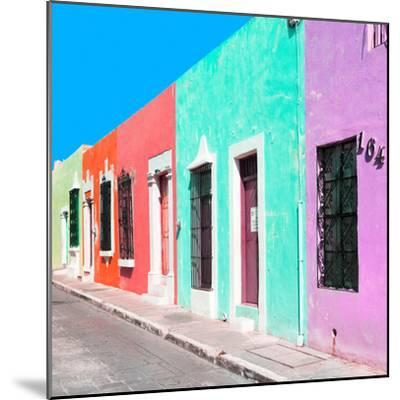 ¡Viva Mexico! Square Collection - Coloful Street VII-Philippe Hugonnard-Mounted Photographic Print