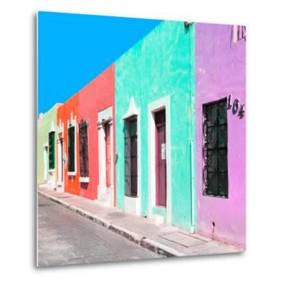 ¡Viva Mexico! Square Collection - Coloful Street VII-Philippe Hugonnard-Metal Print
