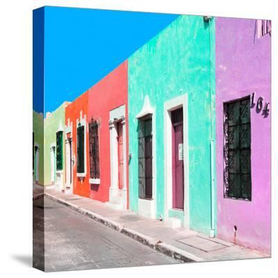¡Viva Mexico! Square Collection - Coloful Street VII-Philippe Hugonnard-Stretched Canvas Print