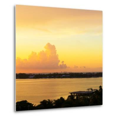 ?Viva Mexico! Square Collection - Sunset over Cancun-Philippe Hugonnard-Metal Print