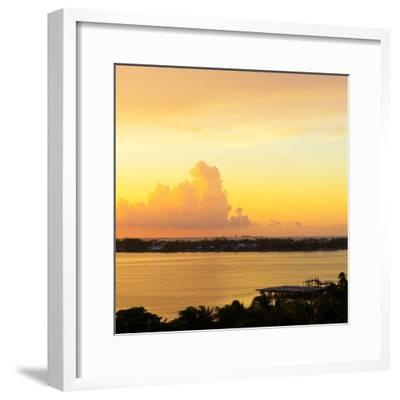 ?Viva Mexico! Square Collection - Sunset over Cancun-Philippe Hugonnard-Framed Photographic Print