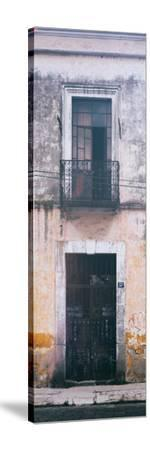 ¡Viva Mexico! Panoramic Collection - Old Mexican Facade III-Philippe Hugonnard-Stretched Canvas Print