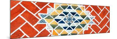¡Viva Mexico! Panoramic Collection - Red Mosaics-Philippe Hugonnard-Mounted Photographic Print