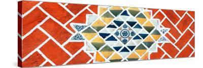 ¡Viva Mexico! Panoramic Collection - Red Mosaics-Philippe Hugonnard-Stretched Canvas Print