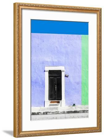 ¡Viva Mexico! Collection - 124 Street Campeche - Purple & Green Wall-Philippe Hugonnard-Framed Photographic Print